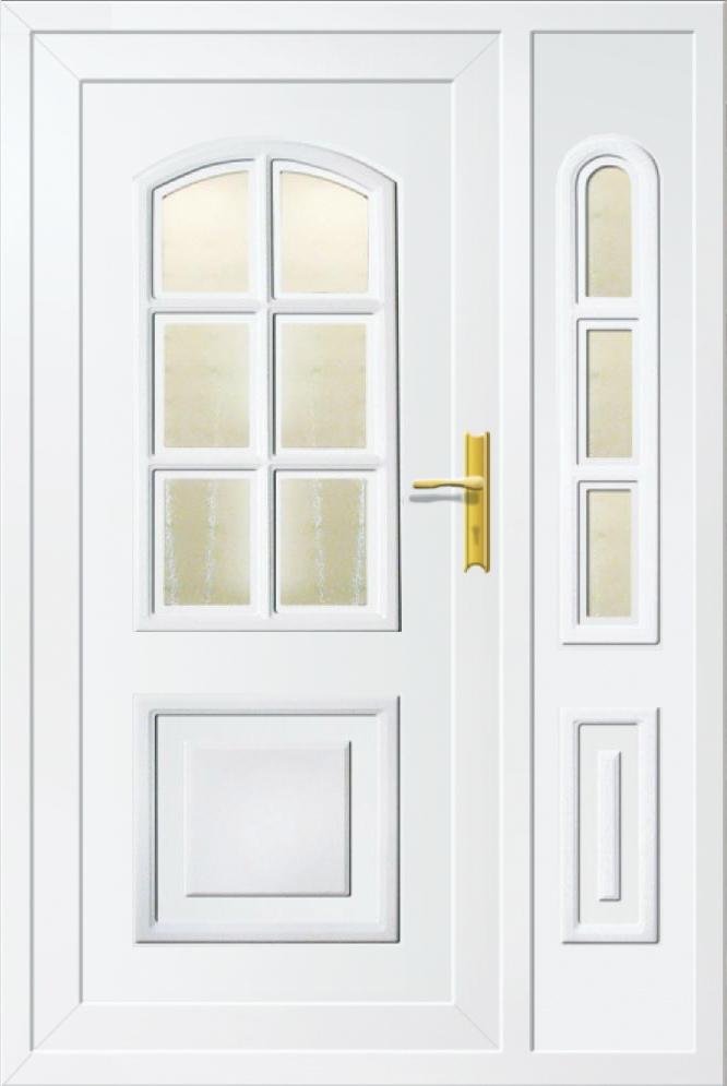 Műanyag bejárati ajtó 5 pontos zárral, Kód:63