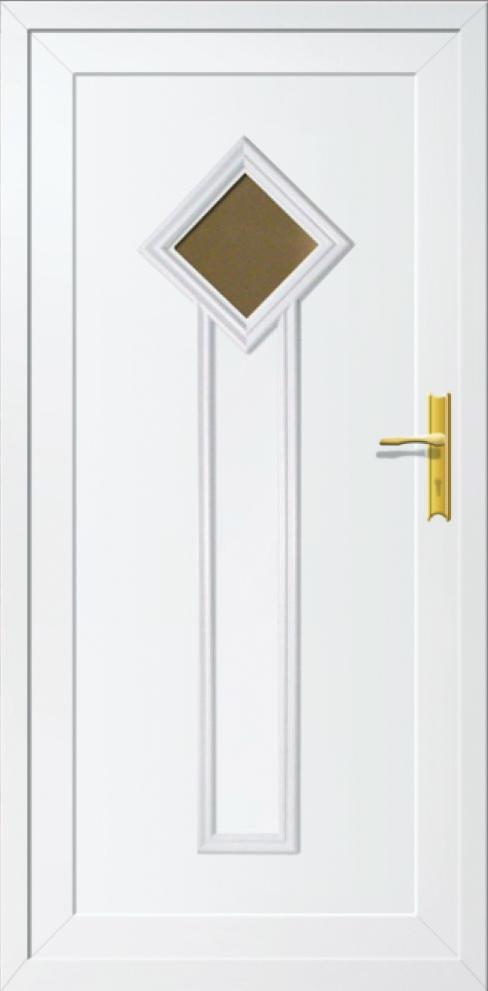 Műanyag bejárati ajtó 5 pontos zárral, Kód:68