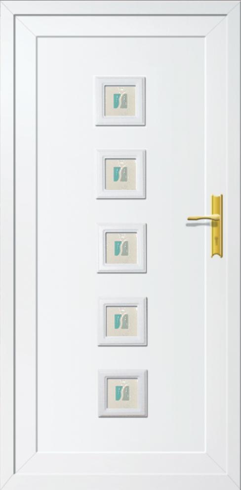 Műanyag  bejárati ajtó 5 pontos zárral, Kód:14