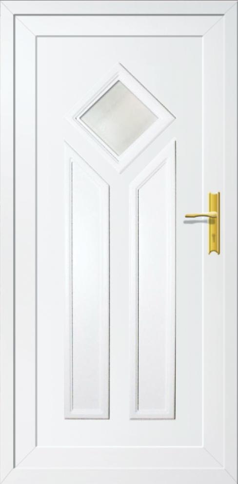 Műanyag bejárati ajtó 5 pontos zárral, Kód:19