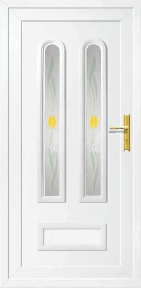 Műanyag bejárati ajtó 5 pontos zárral, Kód:21
