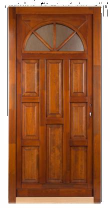 Felületkezelt fa bejárati ajtó,5 pontos zárral, Kód:8