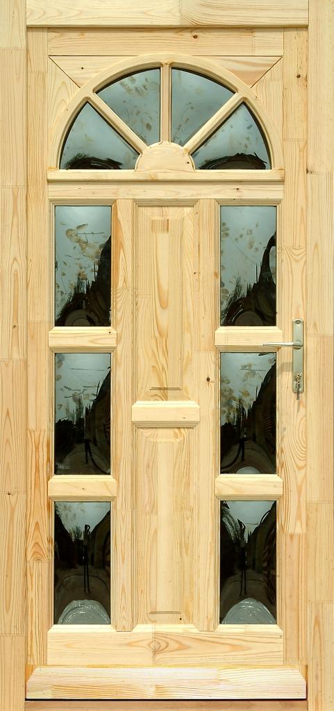 Fa bejárati ajtó 5 pontos zárral, Kód:13